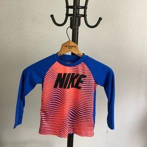 NWT Nike Long Sleeve Athletic Tee, Orange / Blue